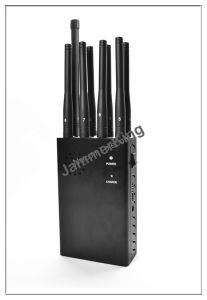 Beautiful CDMA800 / GSM 900MHz Mobile Phone Signal Jammer 8 Bands pictures & photos
