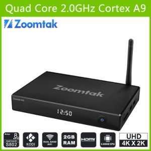 Zoomtak M8 Xbmc Kodi Android TV Box with Dual WiFi pictures & photos