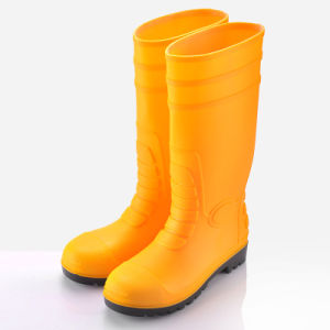 Rain Boot with Safetoe (JK46507-Yellow) pictures & photos