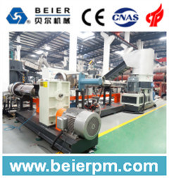 Double Stage PE/PP Plastic Film/Bag Recycling and Pelletizing/Granulation Agglomeration Production Line pictures & photos
