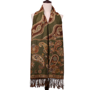 Long Scarf 100% Polyester Winter Pashmina for Fashion Women pictures & photos