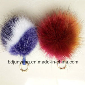 Faux Fur Ball POM Key Chains pictures & photos