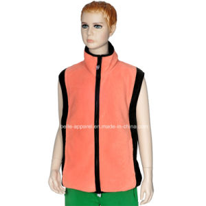 Custom Kid′s Zipper Polar Fleece Waistcoat pictures & photos
