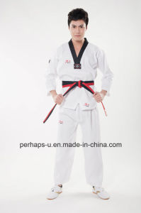 Good Quality Taekwondo Uniforms with Custom Logo pictures & photos
