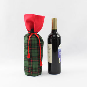 Customized Handmade Christmas Wine Gift Bag pictures & photos