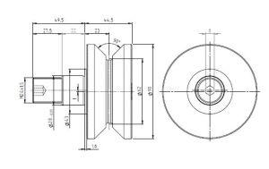 Hpve62-1, V-Grooved Eccentric Stud, Osborn Design Bearing, Load Runner, Idler-Rollers