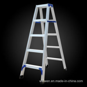 Top Quality Double Folding Aluminum 9 Step Ladder pictures & photos
