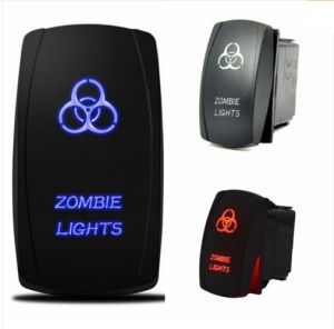 Rocker Switch 12V 24V Zombie Light LED Illuminated Waterproof Switch Spst on/off Lighted for Jeep Auto Marine Boat pictures & photos