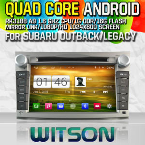 Witson S160 Car DVD GPS Player for Subaru Outback/Legacy with Rk3188 Quad Core HD 1024X600 Screen 16GB Flash 1080P WiFi 3G Front DVR DVB-T Mirror-Link (W2-M061) pictures & photos