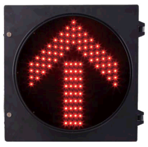 IP54 Red Color One Aspect LED Traffic Signal for Driverway