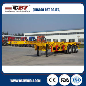 Double Fuwa Axles 40FT Skeletal Trailer Frame pictures & photos