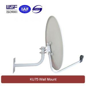 Ku 75cm Satellite Dish Antenna (Wall Mount) pictures & photos