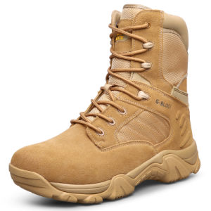 High Quality Genuine Leather Military Combat Boots and Desert Boots (31001)