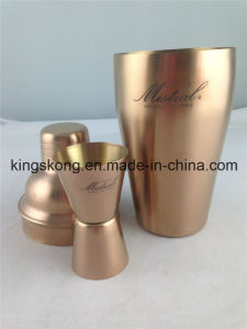 2016 Stainless Steel Cooper Plated Beer Cocktail Shaker Sets with Customized Logo pictures & photos