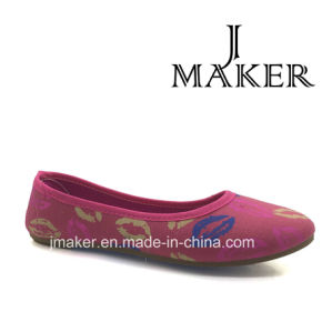 Hot Selling Nice Shoes Lady Flat Shoes Injection Shoes Jm2023-L pictures & photos