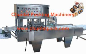 Food Packaging Plastic Tray Container Sealing Machine pictures & photos