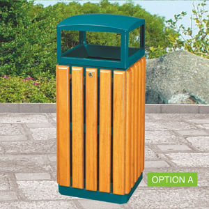 High Quality Outdoor Wooden Trash Bin pictures & photos
