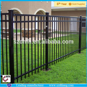 Assembling Powder Coated Galvanized Security Metal Fence