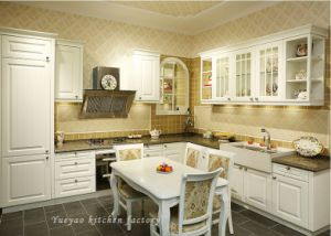 L Design Country Style PVC Kitchen Cabinet (P020)
