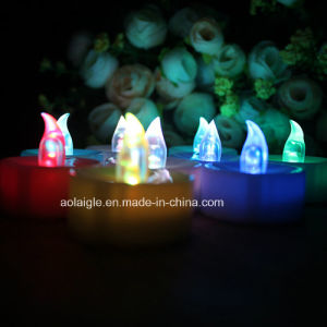 New Style Customize Beautiful Plastic Candle LED Tealight