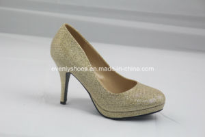 Rouond Toe Fashion High Heel Women Shoes for Banquet pictures & photos