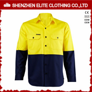 Upf 50+ Fire Retardant Fluorescent Yellow Reflective Work Shirts pictures & photos