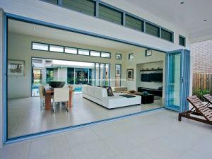 Max Airflow Aluminium Balcony Folding Doors for Exterior Patio pictures & photos