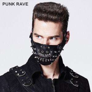 2015 New Fancy Design Black PU Rivet Mask Accessries (S-160) pictures & photos