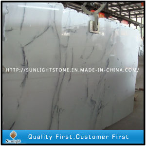 Polished Crystal White Wave Marble for Stone Tiles Paving Flooring pictures & photos