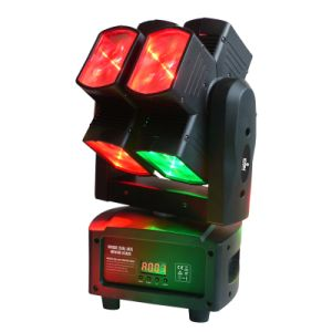 8X10W RGBW 4in1 8 Face Pixel Beam LED Moving Head pictures & photos