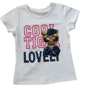 Good Quality Kids Children Custom Printed Dog T-Shirt (SGT-028) pictures & photos