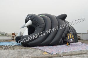 Inflatable Helmet/Inflatable Camping Tent/Inflatable Football Helmet Tunnel, Tiger Design Tunnel in Black Color pictures & photos