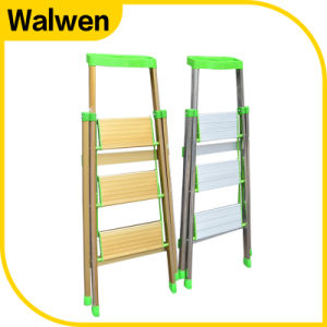 3 Step Foldable Aluminum Household Ladder pictures & photos