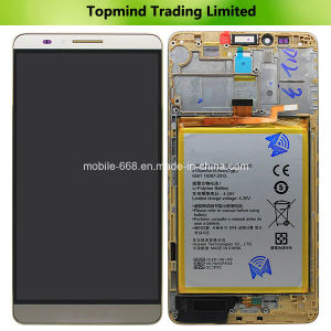 for Huawei Ascend Mate7 LCD Screen and Digitizer Assembly with Front Housing - Gold pictures & photos