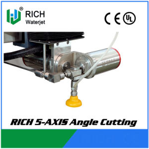 Rich 5 Axis Waterjet Machine with Angle Cutting pictures & photos