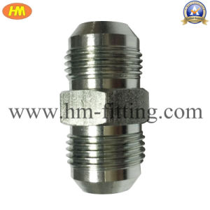 Zinc Plated Steel Hydraulic Pipe Fitting NPT Male Flare Hex Nipple