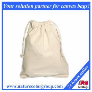 Large Cotton Drawstring Pouches for Gift pictures & photos