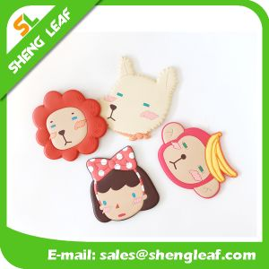 Customized Logo Rubber Makeup Mirror with Handle (SLF-RM011) pictures & photos