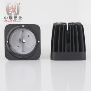 Black Aluminum Die Castings for LED Lights (DC-ZP10)