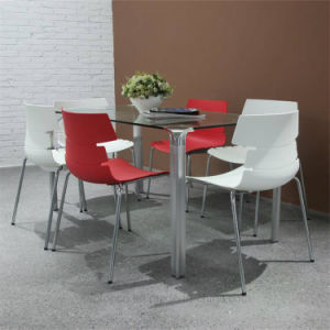Glass Table Plastic Chair Furniture Set for Home Office (SP-DST601) pictures & photos