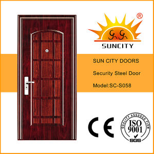 Low Price Iron Main Entrance Door Grill Design (SC-S058) pictures & photos