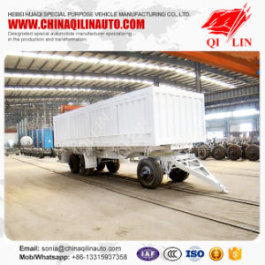 2 Axle Drawbar Trailer for (Sidewall) pictures & photos