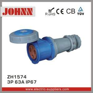 IP67 3p 63A Great Quality Connector for Industrial pictures & photos
