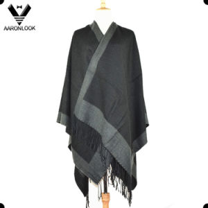Unisex Woven Knit Big Shawl with Self-Fringes pictures & photos