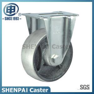 "5"" Cast Iron Rigid Zinc Plated Caster Wheel pictures & photos"