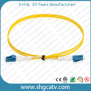 High Quality Single Mode Duplex LC/Upc Fiber Optical Patch Cord pictures & photos