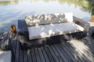 Aluminum Frame Powder Coating Finish Gaden Outdoor Hot Sale Rattan Sofa pictures & photos