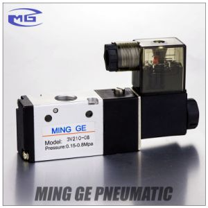 Competitive 3V200 Series High Quality Solenoid Valve (3V220-08) pictures & photos