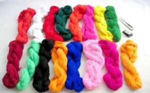 Customized Dyed 100% Cotton Thread for Embroidery pictures & photos