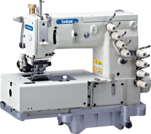 Br-1508p Flat Bed Double Chain Stitch Machine with Horizontal Looper Movement Mechanism pictures & photos